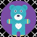 Teddy Stuffed Toy Icon