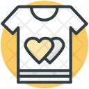 Tee Shirt Hearts Icon