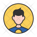 Teen Superhero Man Icon