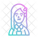 Teen Woman Student Icon