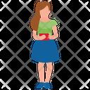Teenager Girl Icon
