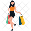 Teenager Shopping Icon