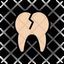 Teeth Broken Cavity Icon