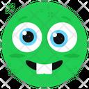 Teeth Out Emoticon Icon