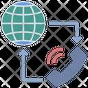 Worldwide Telecommunication Internet Icon