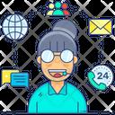 Telecommunication Services Telemarketing Telephone Marketing Icon