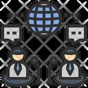 Teleconference Telecommunication Meeting Icon