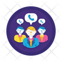 Teleconference Conference Call Communication Icon