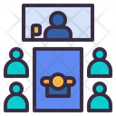 Teleconference Video Call Icon