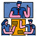 Teleconference Video Conference Video Call Icon