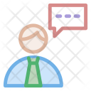 Telemarketer Speech Bubble Icon