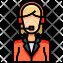 Telemarketer Salesperson Operator Icon