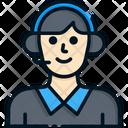 Telemarketer Call Center Customer Service Icon