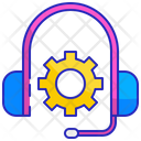 Telemarketing Call Headset Icon