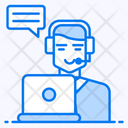Telemarketing Technical Support Call Center Icon