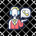 Telemarketing Service Person Icon