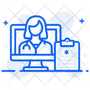 Telemedicine Online Doctor Online Physician Icon