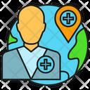 Telemedicine Globe Doctor Icon