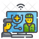 Telemedicine Online Checkup Doctor Icon