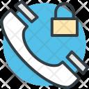 Telephone Receiver Lock Icon