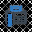 Landline Telephone Communication Icon