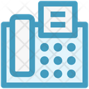 Fax And Telephone Fax Telephone Icon