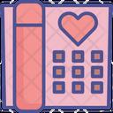 Telephone Romantic Gossip Heart Icon