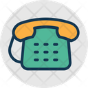 Retro Numeric Telephone Communication Icon