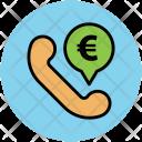 Telephone Receiver Euro Icon