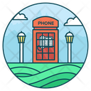 Telephone Booth Call Booth Public Phone Icon