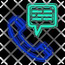 Telephone Message Icon