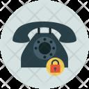 Telephone set with lock Icon
