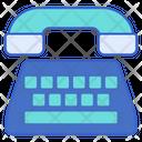 Telephone Typewriter Icon