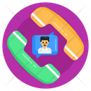Call Discussion Telephonic Call Telephonic Conversation Icon