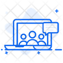 Telepresence Video Conference Video Communication Icon