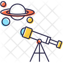Telescope Spyglass Astronomy Icon