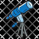Telescope Field Glasses Spyglass Icon