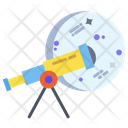 Telescope Optical Space Research Icon