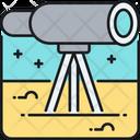 Telescope Astronomy Stargazing Icon