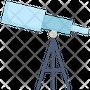 Telescope Science Space Icon