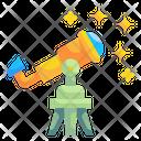Telescope Galaxy Science Icon