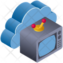 Cloud Computing Television Icon