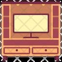 Television Cabinet Showcase Icon