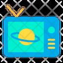 Broadcasting Tv Saturn Icon