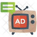 Television Ad Advertisement Commercial Advertisement Icon