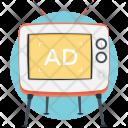 Television Ads Mass Icon