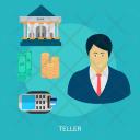 Teller Human Profession Icon