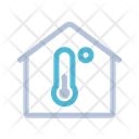 Thermometer Heating Home Icon