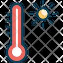 Temperature Thermometer Sun Icon