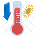 Hot Weather Summer Season Temperature Icon